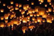 Китайские фонарики, акция, небесные.