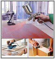 Шліфувальник,  столяр,  лакувальник (фарбувальник) меблів,  дверей.